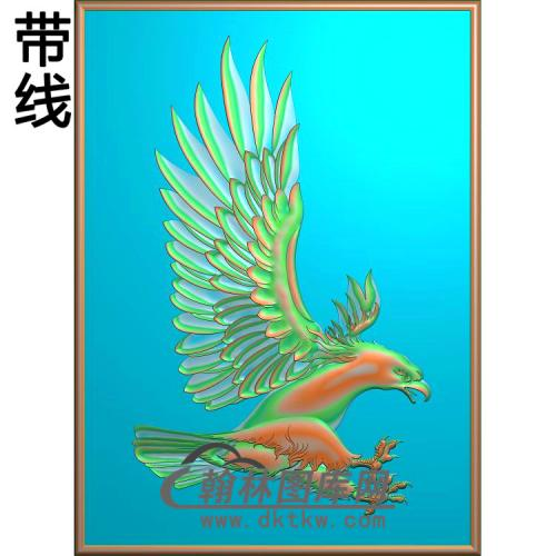 DW-045-动物系列老鹰有线精雕图(HNY-007)