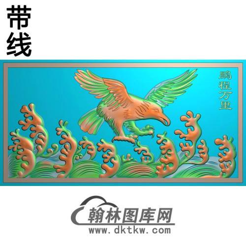 DW-111-动物系列鹰有线精雕图(HNY-009)