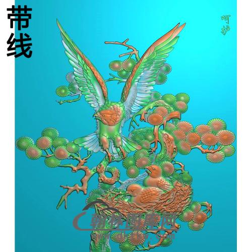 HD-038-花草动物系列有线精雕图(HNY-019)