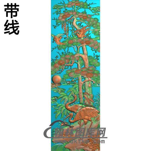 SH-053-松树仙鹤有线精雕图(HNY-021)