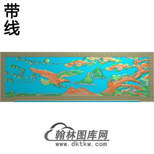 XY-305-鹰松树精雕图(HNY-023)