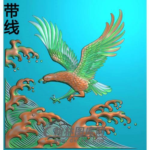 浪花鹰精雕图(HNY-032)