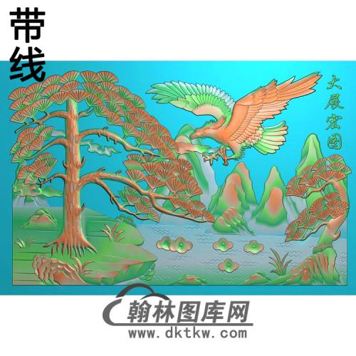 松鹤021_AUTOSAVE精雕图(HNY-034)
