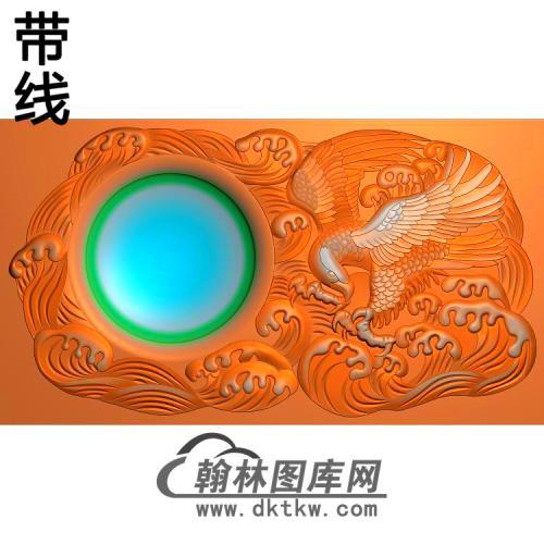 鹰砚台255x140精雕图(HNY-036)