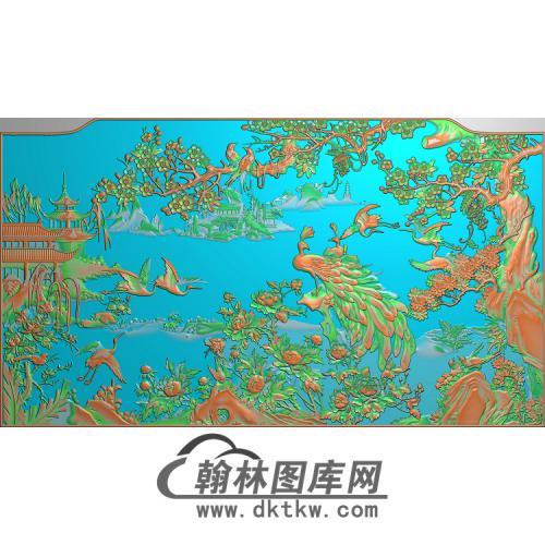 QTDW-329孔雀无线精雕图(HKQ-015)