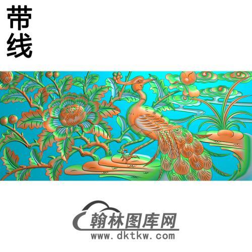 QTZW-000011-孔雀39精雕图(HKQ-017)