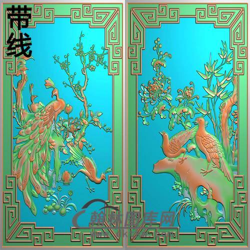 孔雀精雕图(HKQ-044)