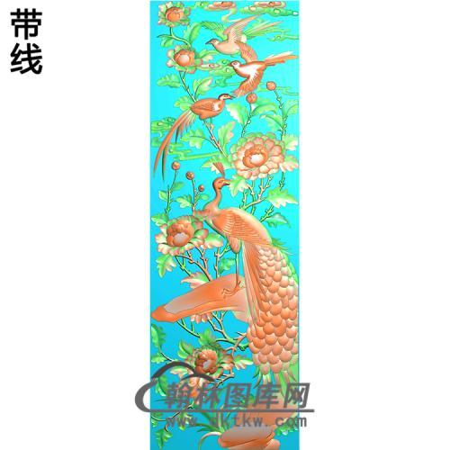 孔雀精雕图(HKQ-052)