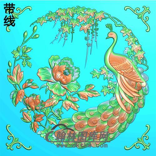 孔雀精雕图(HKQ-053)