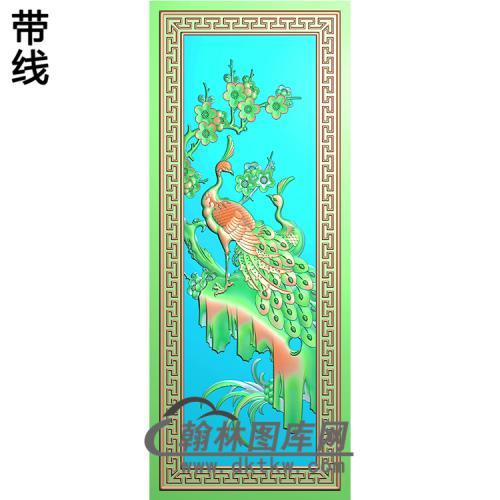 孔雀精雕图(HKQ-054)