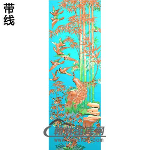 孔雀精雕图(HKQ-055)