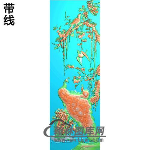 孔雀精雕图(HKQ-057)