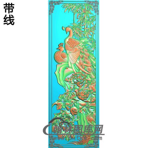 孔雀精雕图(HKQ-058)