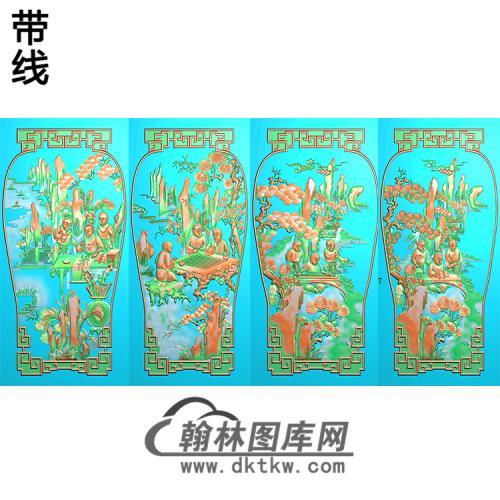 QQSH-104琴棋书画精雕图(QQSH-002)
