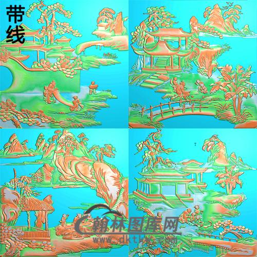 琴棋书画图精雕图(QQSH-010)