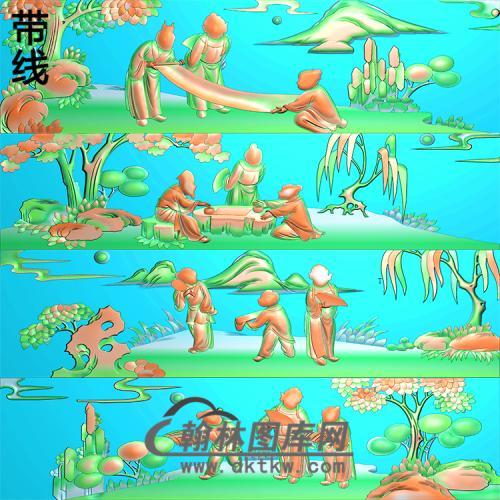 沙发靠背精雕图(QQSH-012)