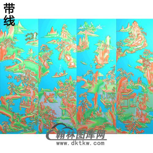 山水人物长线2精雕图(SSTT-020)