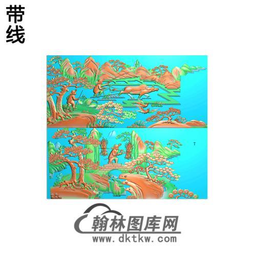 渔樵耕读精雕图14
