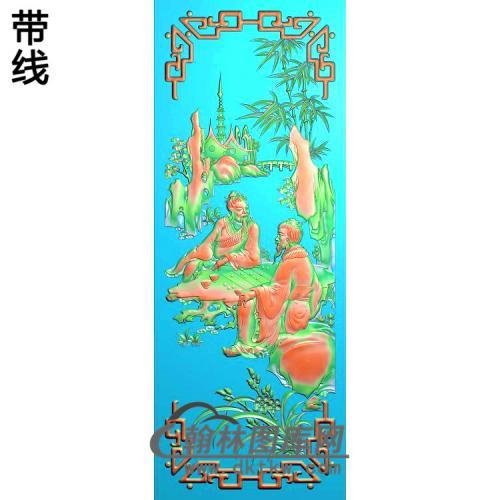 琴棋书画--棋,竹精雕图(SSRW-106)