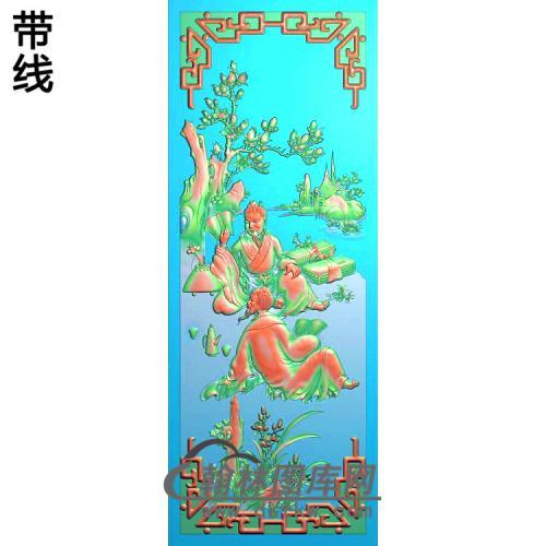 琴棋书画--书,兰精雕图(SSRW-108)
