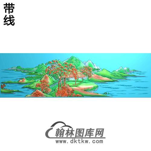 山水一套东艺1精雕图(SSFJ-043)