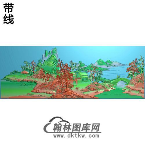 山水建筑人物精雕图(SSFJ-122)