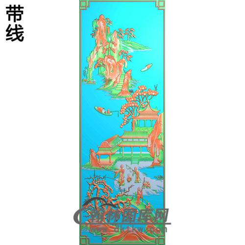 SSRW-0015-君鱼1x3精雕图(SSFJ-183)