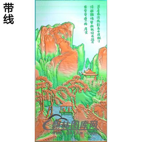 SSRW-8028-唐伯虎山水精雕图(SSFJ-189)
