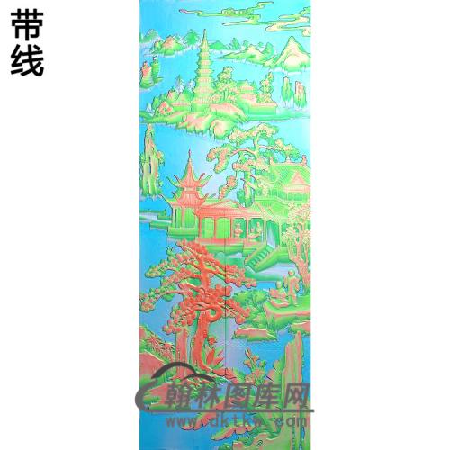 大门4精雕图(SSFJ-198)