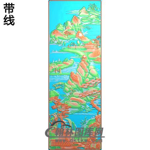 华山大门2精雕图(SSFJ-201)