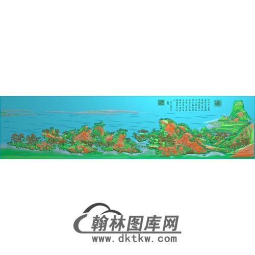 精品千里江山0531无线精雕图(SSFJ-203)