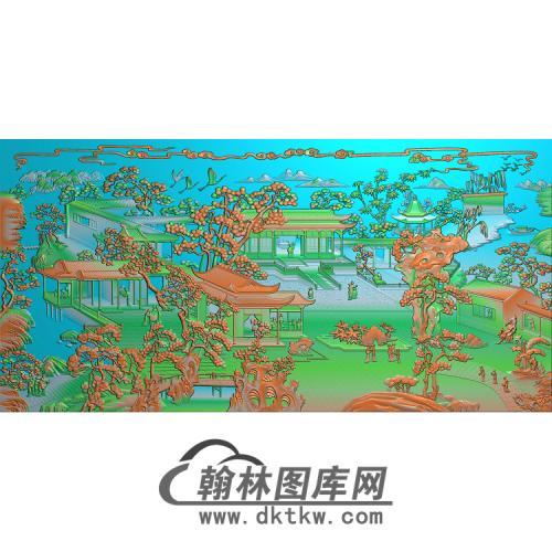精品怡红院大风景图无线精雕图(SSFJ-204)