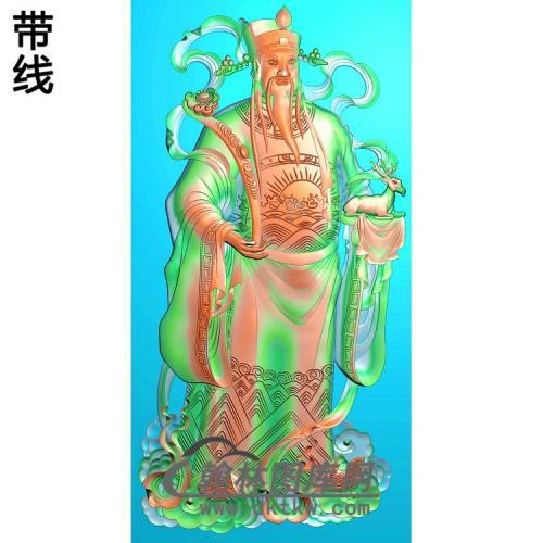 GD-103-财神进禄图精雕图(CS-006)