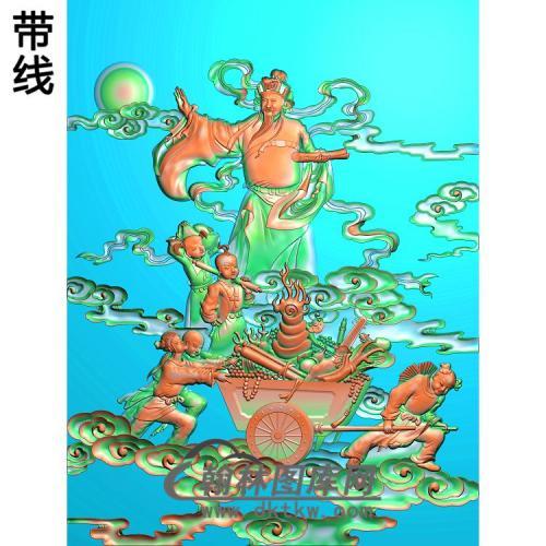 GD-497-招财进宝精雕图(CS-010)