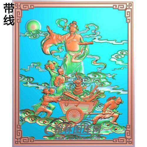 GD-2002财神送元宝图有线精雕图(CS-011)