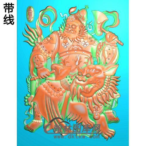 MS-1331-精品门神精雕图(MS-012)