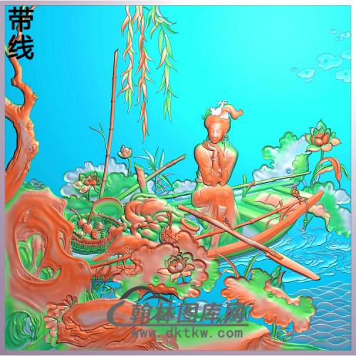 GD-2003-四大才女(李清照)有线精雕图(SN-026)