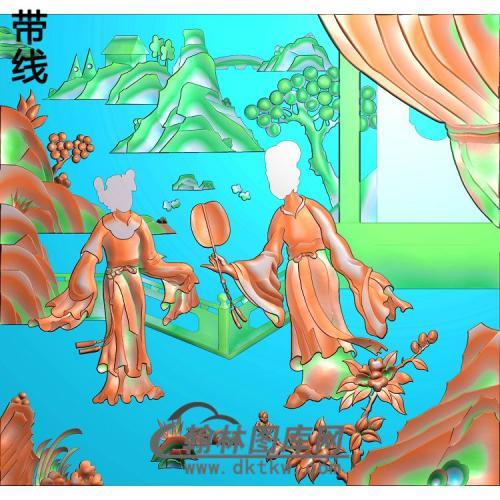 SN-010-侍女精雕图(SN-075)