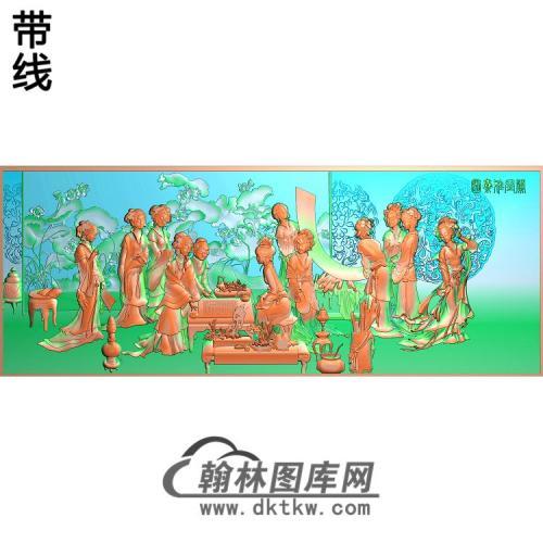 SN-019-阑闺雅集图精雕图(SN-089)