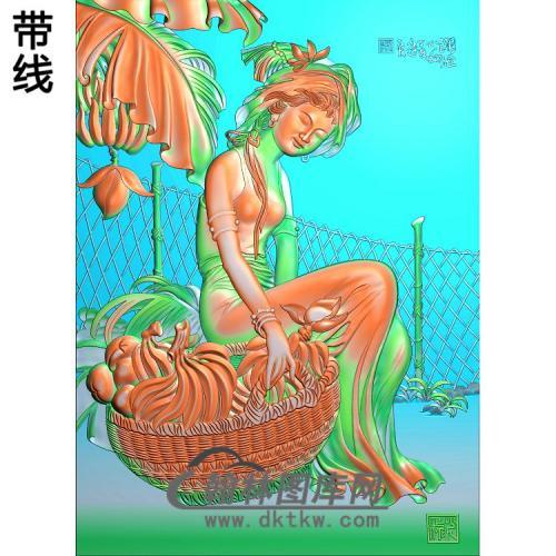 SN-020-澜沧小女精雕图(SN-090)