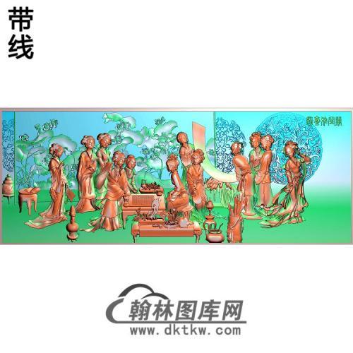SN-025-侍女精雕图(SN-093)