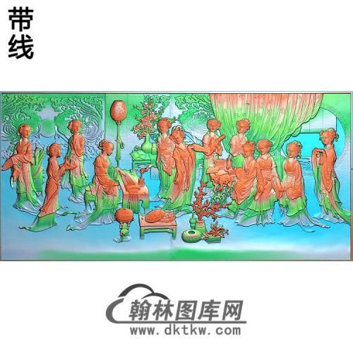 SN-033侍女宫殿精雕图(SN-094)