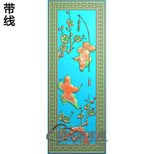 梅花童精雕图(TZ-114)