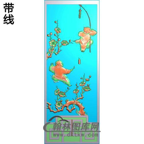 梅花童子精雕图(TZ-115)