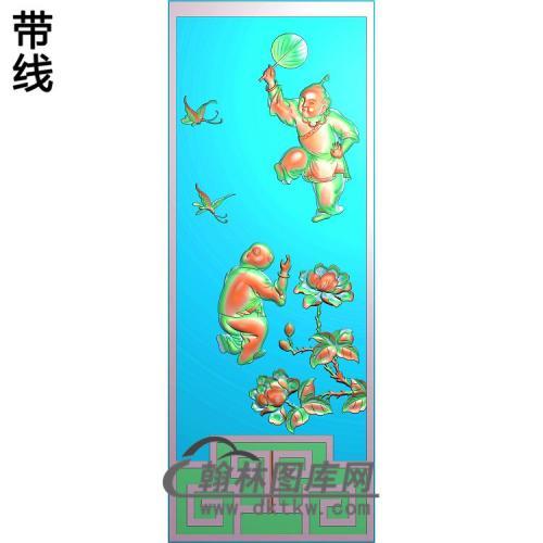 牡丹童子精雕图(TZ-117)