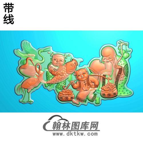寿星童子-TZ-001精雕图(TZ-122)