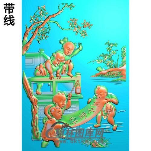 童子 (3)精雕图(TZ-127)