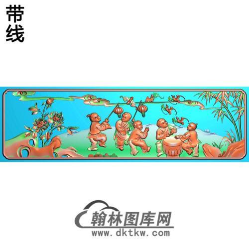 五福童子下板206-60精雕图(TZ-138)