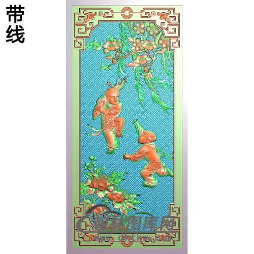 新大号宝马沙发靠背板19.2x40.7人参(不做长沙发)(精品版)精雕图(TZ-140)