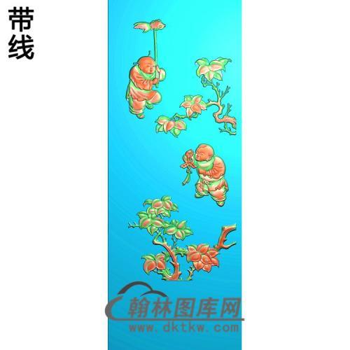 鱼童精雕图(TZ-143)